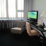 Desk area, Room 304, Fabian Hotel