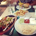 Speciality fajita's and the infamous gormet burger!