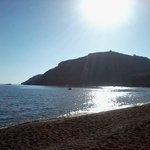 Vlycha beach in the morning, like Henry Miller said: Greece is the world of light, sunshine