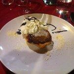 Cipolla caramellata con spuma di parmigiano