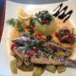 sardines grillées sauce vierge