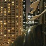 Night on balcony