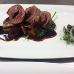 Venison stuffed with paua