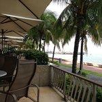 Outside terrace for breakfast/dinner etc