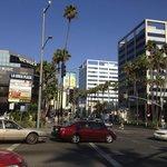 hollywood boulevard appena fuori il motel