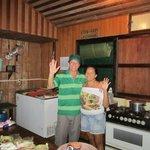 Die Besitzer und Betreiber in der Küche
