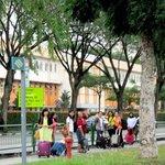 Pemandanga sekitar hostel menuju MRT boonkeng