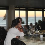 The sundown view through the restaurant. Great food, great times, great people. This place ROCKS