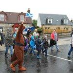 An annual school parade in progress