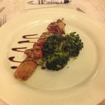 Lamb Kebab with broccoli