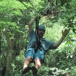 zip lining at Condovac, about 30min on the grounds