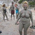Mud bath while on tour