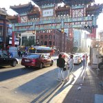 Within site of the hotel entrance was the entrance to Chinatown