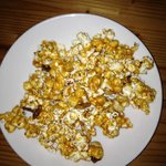 Caramel Corn with Bacon and Cashews
