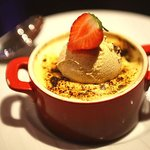 Delicious fruit brulee sweet.