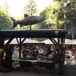 Entrance to the salmon bake
