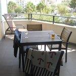Vår flotte terrasse
