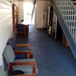 Seating in Breezeway by vending