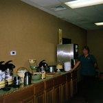 Attendant Terri in the Breakfast Room