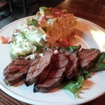 Wedge salad with steak