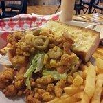 Shrimp and crawfish Po-Boys