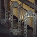 Deco stair railing