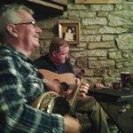 Impromptu Irish band in the bar