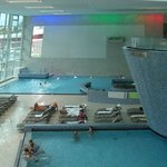 Inside pools at the Tauern Spa