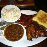 quarter chicken & 4 pork ribs