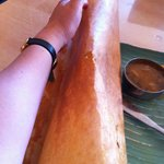 the paper dosa was longer than my arm