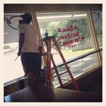 Window's being painted