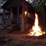 Bonfire at cabin