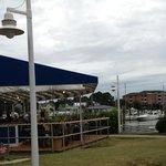enjoyed eating on deck next to marina