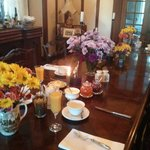 Beautiful breakfast table
