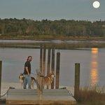 Full moon over Machias River