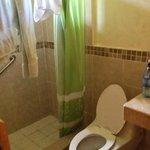 The bathroom - shower & toilet