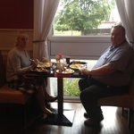 Our lovely customers enjoying their meal