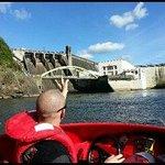 CamJet driver Aaron at Karapiro Dam face 17 Sept 2013