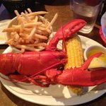 Thirty two dollar 1.5 pound lobster with garlic fries.