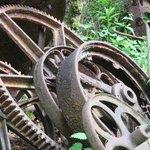 Rusty iron.
