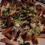 fries topped with homemade blue cheese mayo