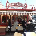 my hubby enjoying his beavertail