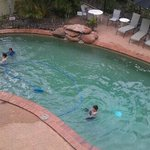 room overlooking pool