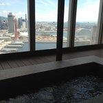 地上18F足湯からの眺め