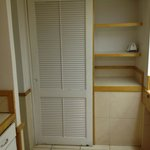 Closet and kitchenette