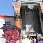 Flat Stanely at the Grauman's Chinese Theatre