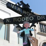 Flat Stanley shopping on Rodeo!