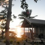 fale at sunset