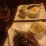 Chocolate brownie - beautifully presented and absolutely delicious!