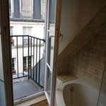 Bath with a balcony